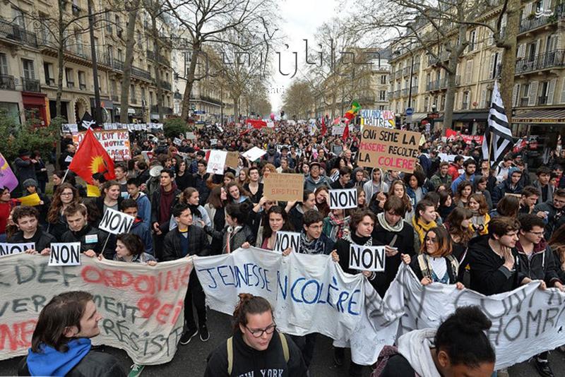 اعتراضات فرانسه یک کشته و چهارصد زخمی